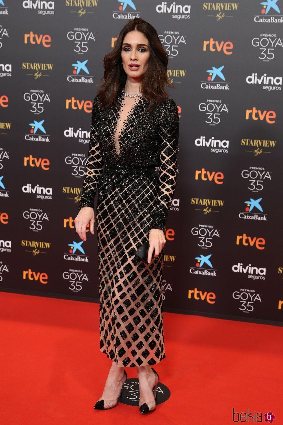 Paz Vega con un vestido de Alta Costura en los Goya 2021