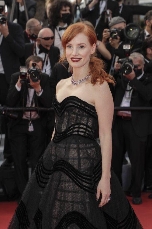 Jessica Chastain vestida de Dior en el Festival de Cannes 2021