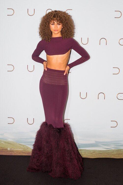 Zendaya de Alaïa en la premiere de 'Dune' en París