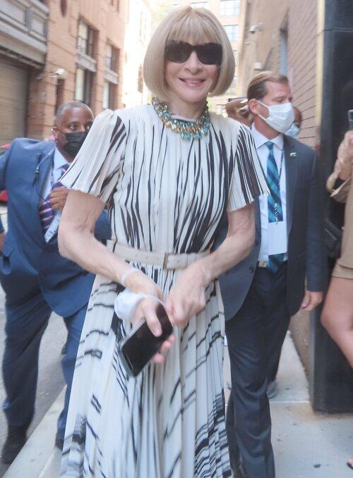 Anna Wintour en la Semana de la Moda de Nueva York primera/verano 2022