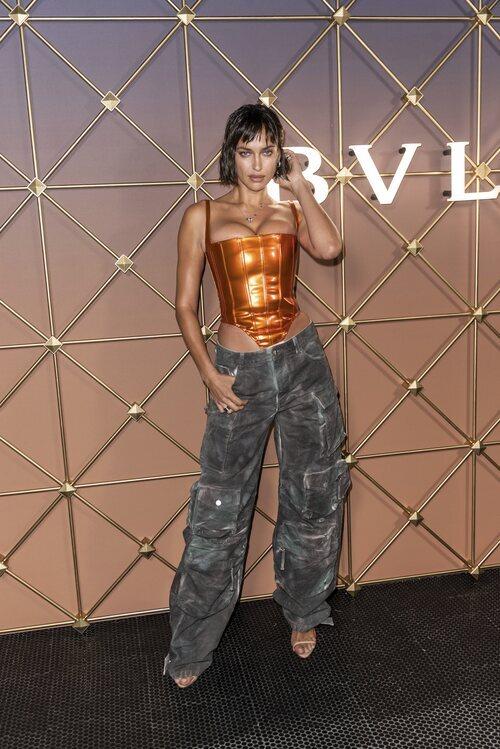 Irina Shayk en un evento de Bulgari en la Semana de la Moda de Nueva York primera/verano 2022