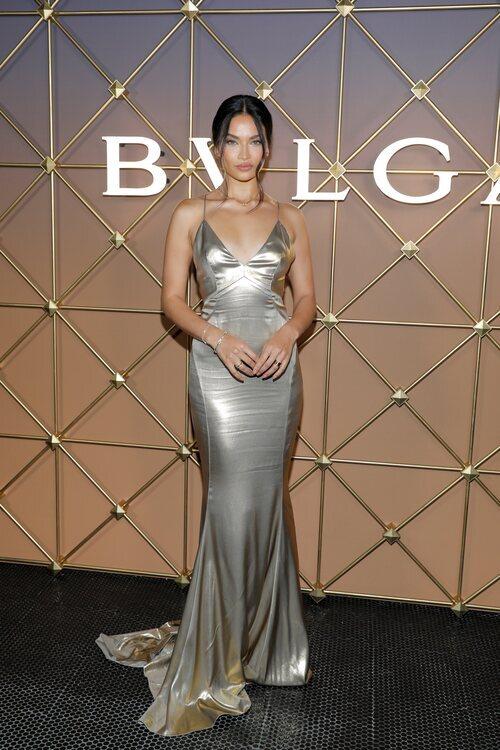 Shanina Shaik en un evento de Bulgari en la Semana de la Moda de Nueva York primera/verano 2022