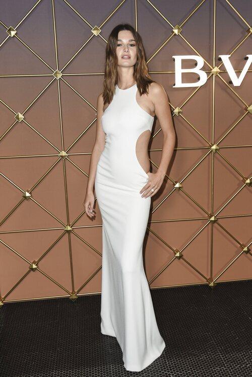 Ophelie Guillermand en un evento de Bulgari en la Semana de la Moda de Nueva York primera/verano 2022