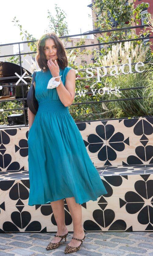 Katie Holmes en un evento de Kate Spade en la Semana de la Moda de Nueva York primera/verano 2022