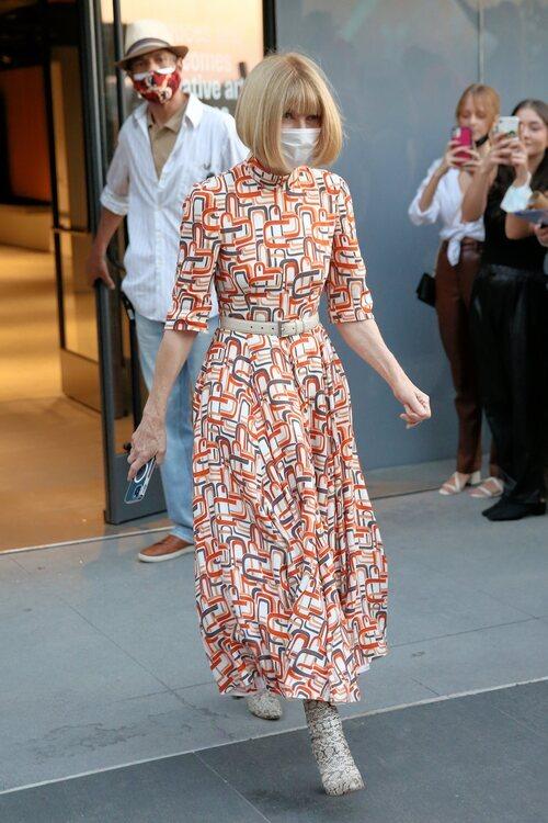 Anna Wintour en el desfile de Thom Browne en la Semana de la Moda de Nueva York primera/verano 2022