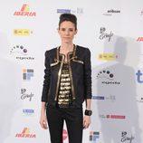 Pilar López de Ayala con look rock en negro y dorado