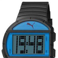 Reloj deportivo 'Half Time' de la firma Puma en color negro y azul