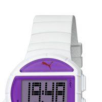 Reloj deportivo 'Half Time' de la firma Puma en color blanco y morado