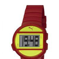 Reloj deportivo 'Half Time' de la firma Puma en color rojo y amarillo