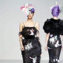 Vestido con flecos de Elisa Palomino en la Madrid Fashion Week