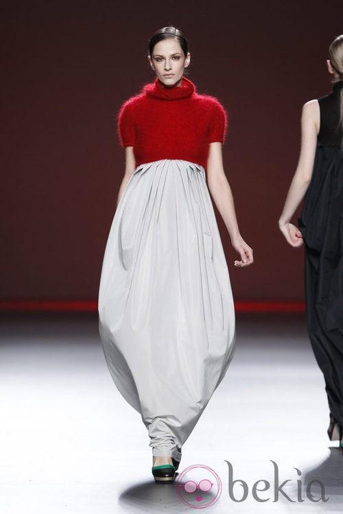 Vestido saco de la colección otoño/invierno 2012/2013 de Amaya Arzuaga