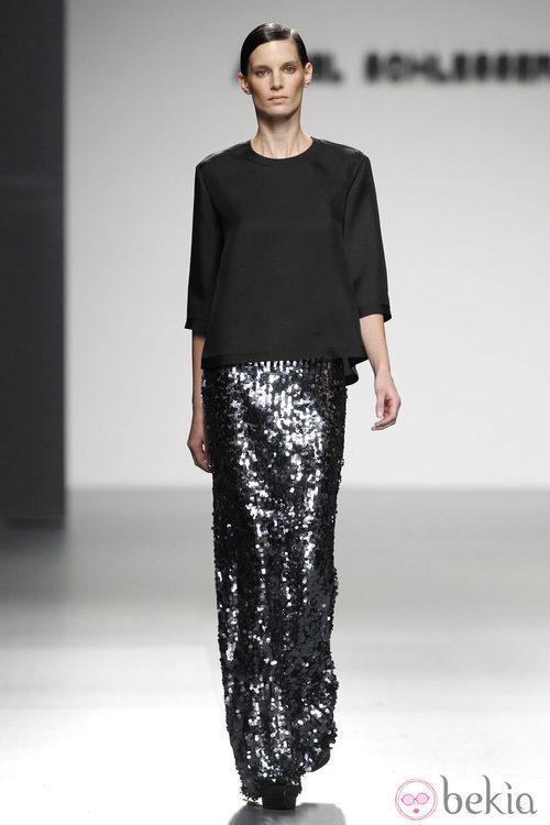Falda larga de paillettes de la colección otoño/invierno 2012/2013 de Ángel Schlesser