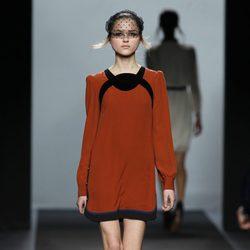 Vestido tangerine tango Miguel Palacio en Fashion Week Madrid