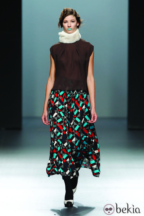 Falda larga con estampado calendoscópico de la colección Otoño/Invierno 2012/2013 Lemoniez