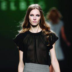 Short de tiro alto gris jaspeado de la colección otoño/invierno 2012/2013 de Teresa Helbig