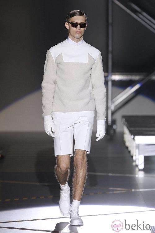 Jersey bicolor y pantalón corto para hombre de la colección otoño/invierno 2012/2013 de Davidelfin