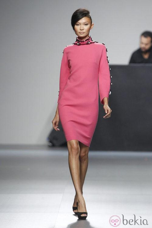 Vestido rosa corto de la colección otoño/invierno 2012/2013 de Juana Martin
