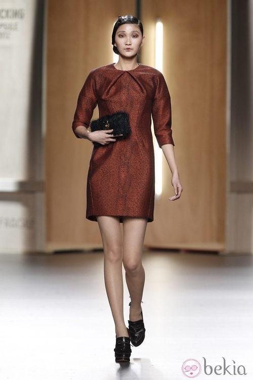 Vestido con print animal de Ana Locking en Fashion Week Madrid