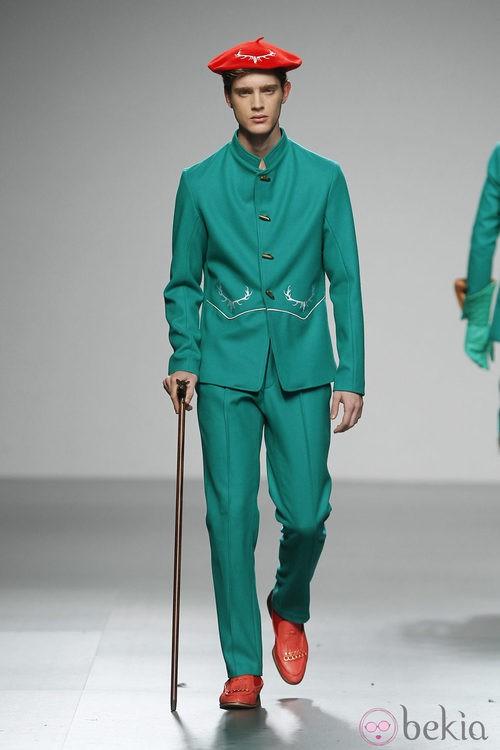 Diseño en verde quirófano de Ixone Elzo en 'El Ego' de Fashion Week Madrid