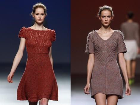 Vestido de punto en color caldero de Sita Murt en la Fashion Week Madrid