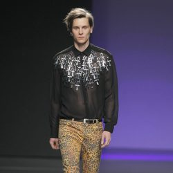 Pantalones de leopardo de María Escoté en Fashion Week Madrid