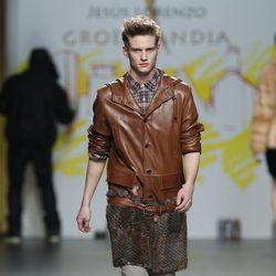 Chaqueta de piel de caballero de la colección otoño/invierno 2012/2013 de Jesús Lorenzo