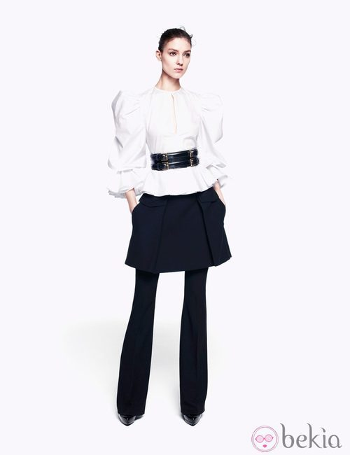 Camisa blanca de la colección pre-fall 2012 de Alexander McQueen