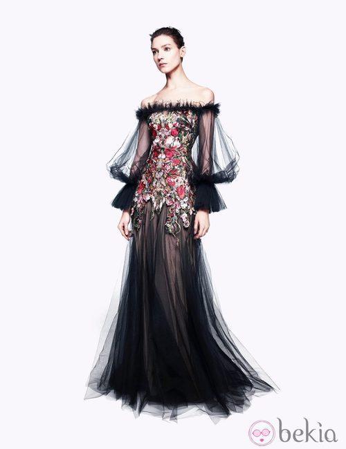Vestido transparente con flores de la colección pre-fall 2012 de Alexander McQueen