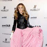Sarah Jessica Parker con vestido de Oscar de la Renta y chaqueta 'perfecto' de Theyskens Theory
