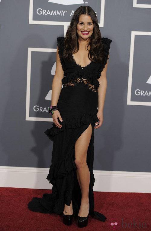 Lea Michele con un vestido de Pucci en los Grammy 2011