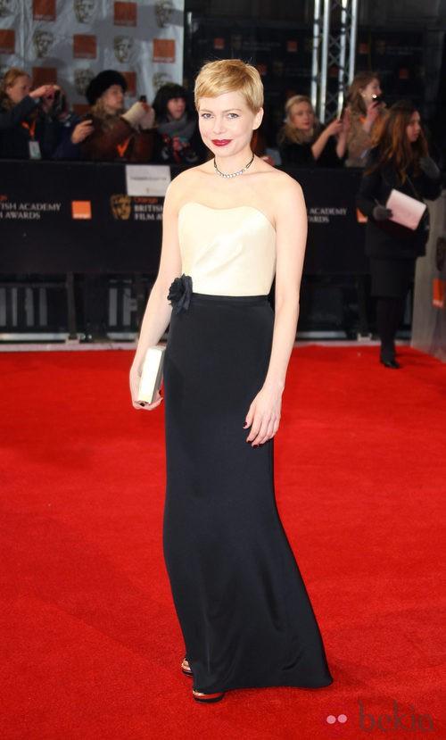 Michelle Williams vestida de H&M en los Bafta 2012