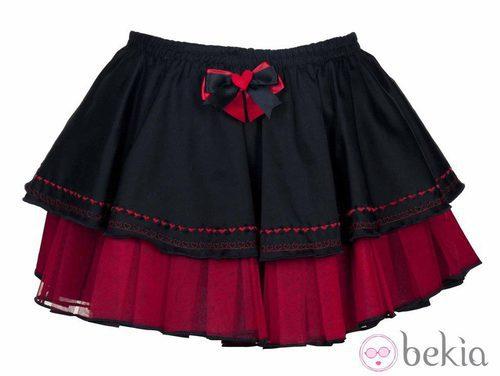 Minifalda de volantes de la colección especial de San Valentín de Miss Self Destructive