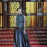 Eva Hache con vestido azul en los Premios Goya 2012
