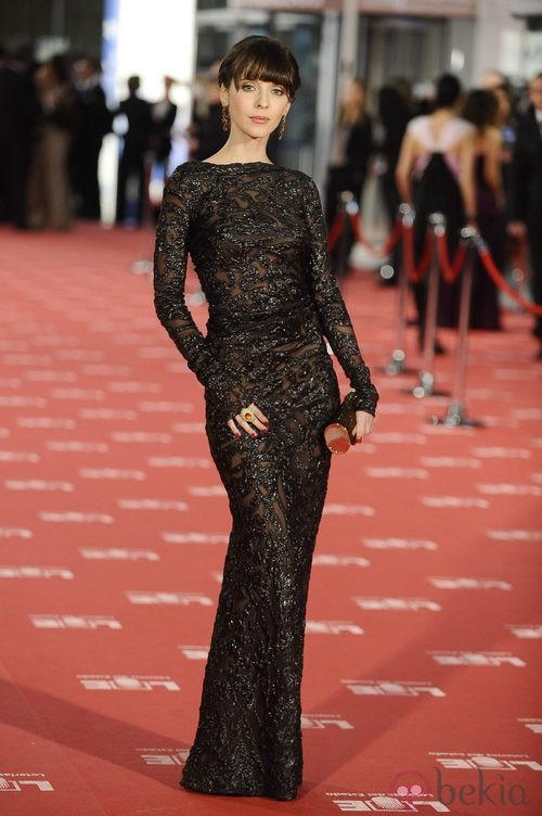 Leticia Dolera con vestido de Dolores Promesas en los Goya 2012
