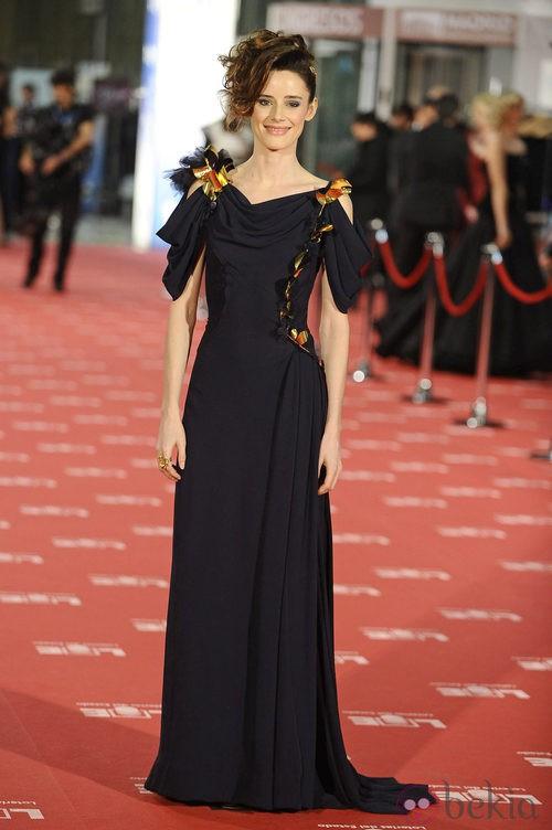 Pilar López de Ayala con vestido de Nina Ricci en los Goya 2012