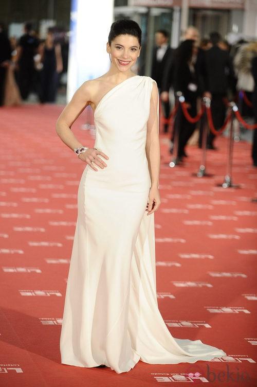 Irene Visedo con vestido de Dior en los Goya 2012