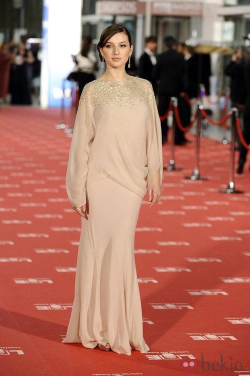 María Valverde con vestido de Dior en los Goya 2012