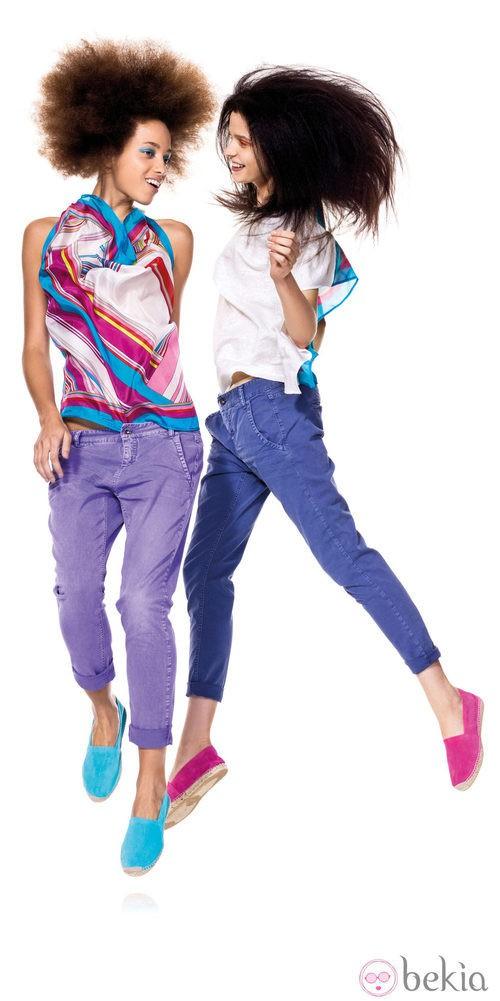 Colección primavera/verano 2012 de Benetton en colores vivos