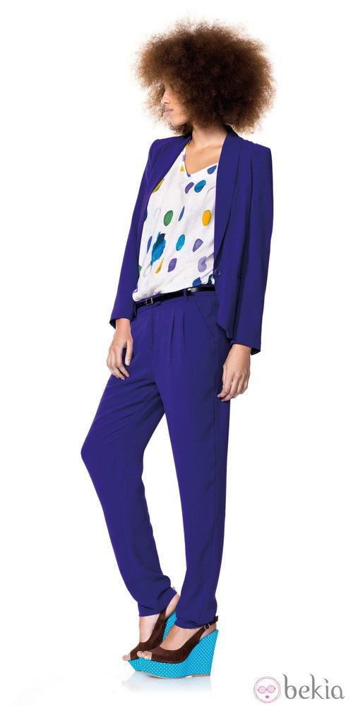 Traje azul de la nueva colección primavera/verano de Benetton