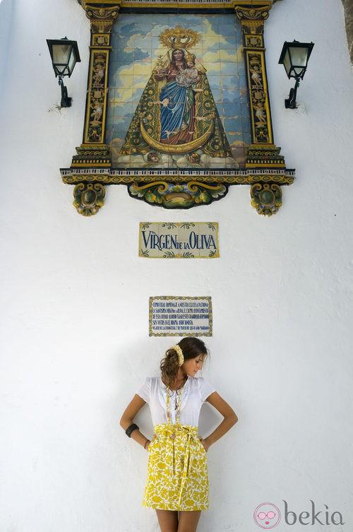 Falda en color amarillo de la nueva colección de Indiwoman