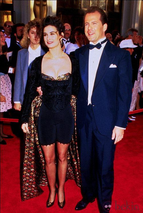Demi Moore muy joven en la gala de los Oscar de 1989