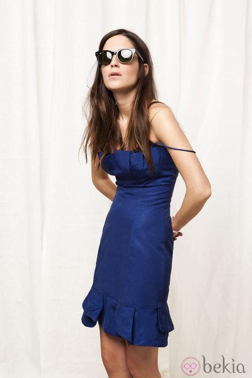 Vestido azul de la nueva campaña primavera/verano de la Línea U de Adolfo Domínguez