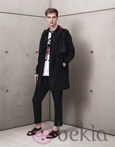 Trench negro masculino de Marni para H&M