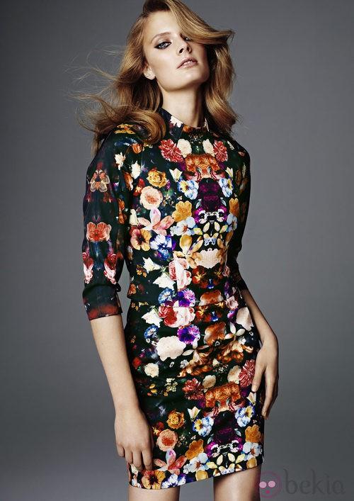 Vestido con mangas estampado de la colección más exclusiva de H&M Conscious