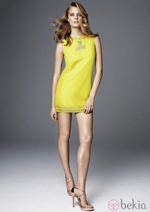 Minivestido en color fluor de la colección exclusiva de H&M Conscious