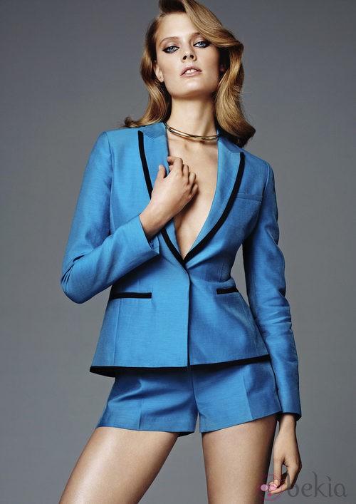 Conjunto azul de la nueva colección exclusiva H&M conscious