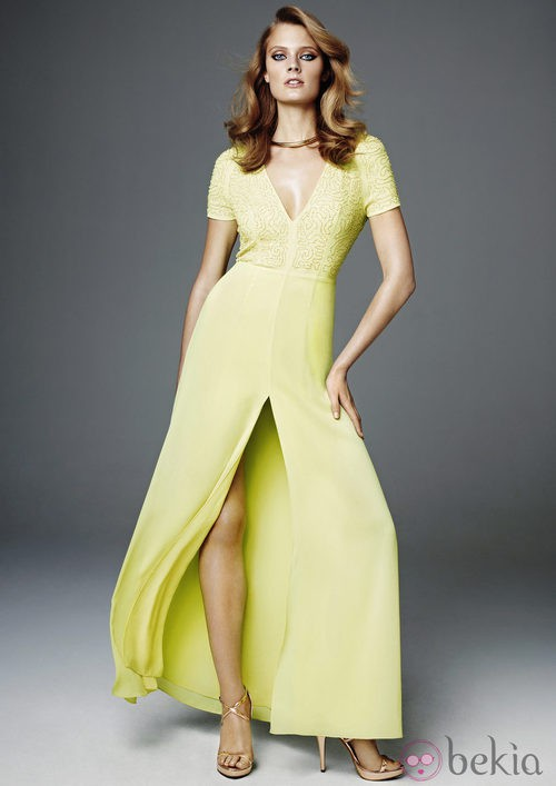 vestido verde largo de H&M Conscious 2012