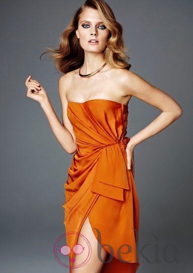 Minivestido en color naranja de H&M Concious