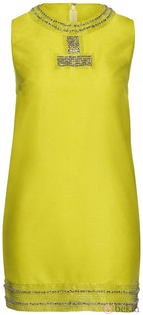 vestido amarillo colección H&M Concious