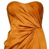 Vestido naranja palabra de honor H&M Conscious
